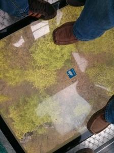 Gläserner Fußboden