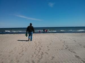 1. Gang = zum Strand